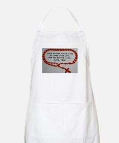 Direct Line to Father, Love Mom Apron