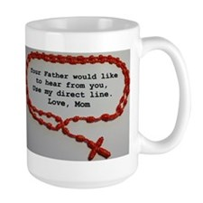 Direct Line to Father, Love Mom Mugs