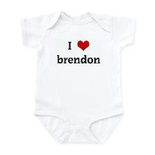I Love brendon Infant Bodysuit