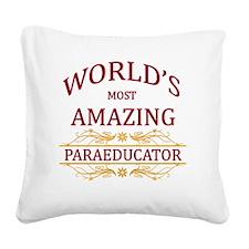 Paraeducator Square Canvas Pillow