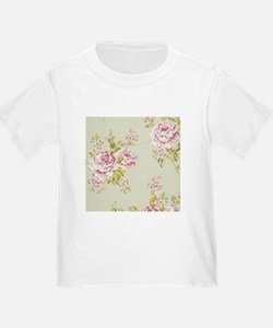 shabby chic country pink roses vintage floral T-Sh