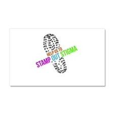 Stamp Out Stigma Car Magnet 20 x 12