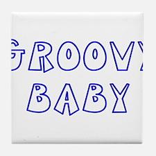 Groovy Baby Tile Coaster