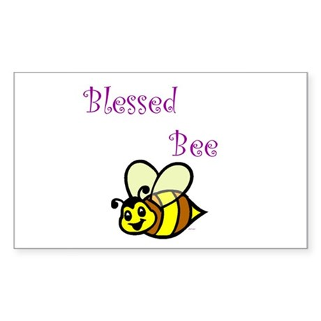 Blessed Bee Rectangle Sticker