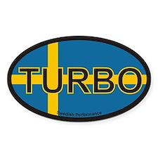 Swedish Turbo Oval Decal