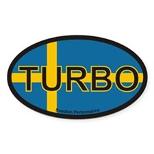 Swedish Turbo Oval Stickers