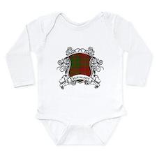Stewart Tartan Shield Long Sleeve Infant Bodysuit