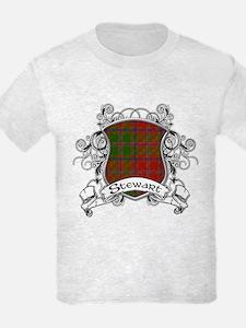 Stewart Tartan Shield T-Shirt