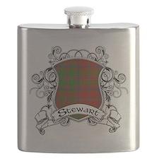 Stewart Tartan Shield Flask