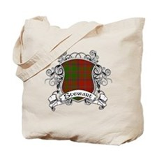 Stewart Tartan Shield Tote Bag