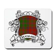 Stewart Tartan Shield Mousepad