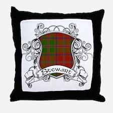 Stewart Tartan Shield Throw Pillow