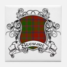Stewart Tartan Shield Tile Coaster