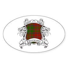 Stewart Tartan Shield Decal