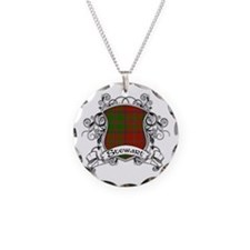 Stewart Tartan Shield Necklace