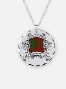 Stewart Tartan Shield Necklace
