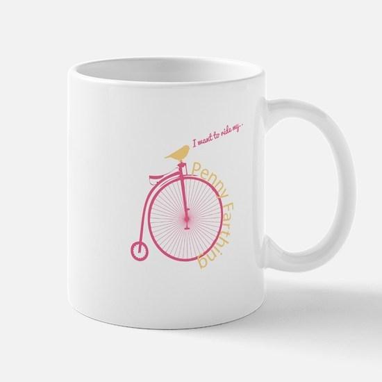 Penny Farthing Mugs