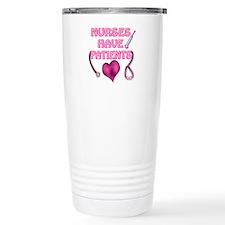 Nurses Have Patients Pink Heart Travel Mug