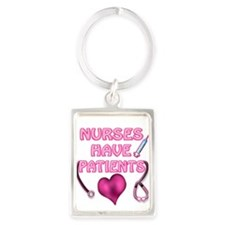 Nurses Have Patients Pink Heart Keychains