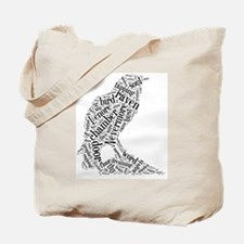The Raven Wordle Tote Bag