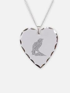 The Raven Wordle Necklace Heart Charm