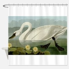 Audubon Swan Bird Shower Curtain