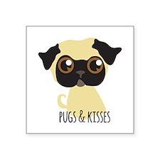 Pugs & Kisses Sticker
