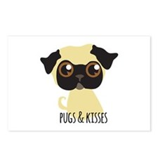 Pugs & Kisses Postcards (Package of 8)