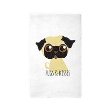 Pugs & Kisses 3'x5' Area Rug