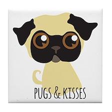 Pugs & Kisses Tile Coaster