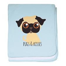 Pugs & Kisses baby blanket
