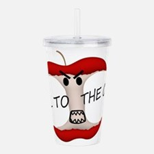 Evil To The Apple Core Acrylic Double-wall Tumbler