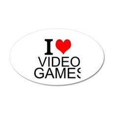 I Love Video Games Wall Decal