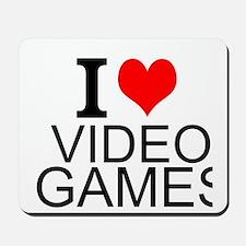 I Love Video Games Mousepad