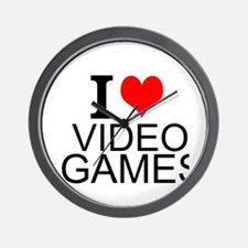 I Love Video Games Wall Clock