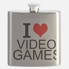 I Love Video Games Flask