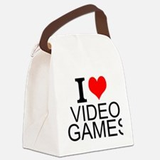 I Love Video Games Canvas Lunch Bag