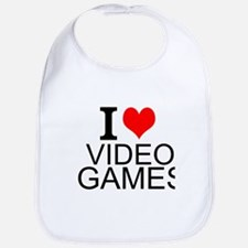 I Love Video Games Bib