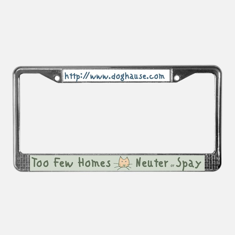 Not Enough Homes License Plate Frame