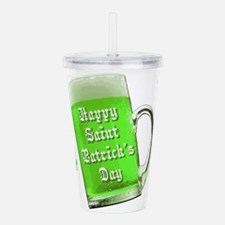 Funny Happy st. urho%27s day Acrylic Double-wall Tumbler
