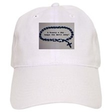 A Rosary a day, keeps the Devil away! Baseball Baseball Cap