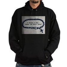 A Rosary a day, keeps the Devil away! Hoodie