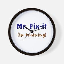 Mr. Fix It In Training Wall Clock