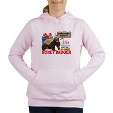 Cute Honey badger Women's Hooded Sweatshirt