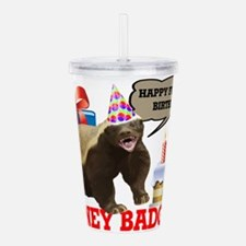 Cute Honey badger dont care Acrylic Double-wall Tumbler