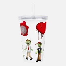 Eye Heart Zombies Acrylic Double-wall Tumbler