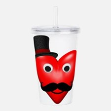 Mustache Love With Tophat Acrylic Double-wall Tumb