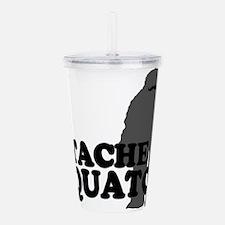 Stache Squatch Acrylic Double-wall Tumbler