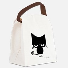 Meh Cat Canvas Lunch Bag