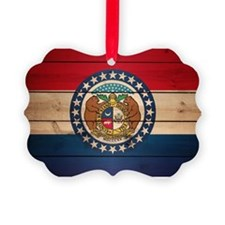 Cute Missouri state flag Ornament